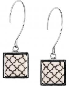 Jilzarah Latte Square Hoop Earrings
