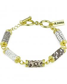 Jilzarah Latte Tube Bead Gold Bracelet