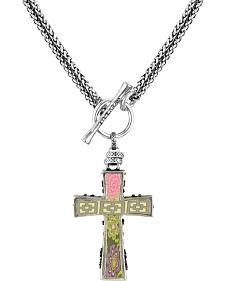 Jilzarah Prairie Two-Length Cross Necklace