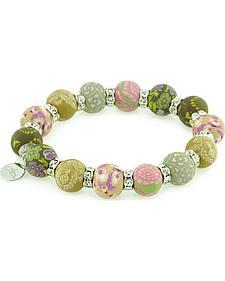 Jilzarah Prairie Beaded Crystal Bracelet