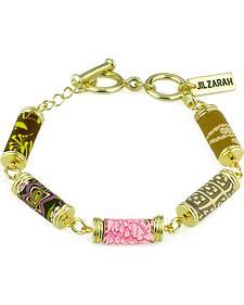 Jilzarah Prairie Tube Bead Gold Bracelet