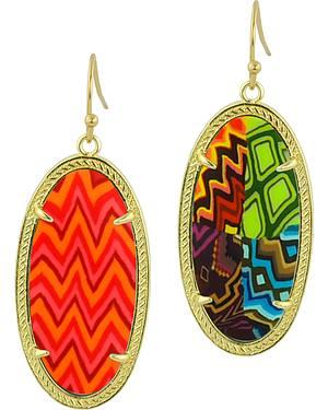 Jilzarah Santa Fe Gold Frame Earrings