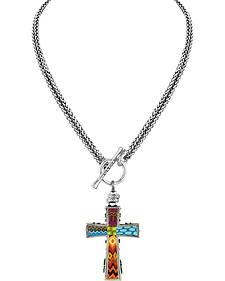 Jilzarah Santa Fe Two-Length Cross Necklaces