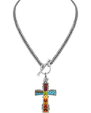 Jilzarah Santa Fe Two-Length Cross Necklaces