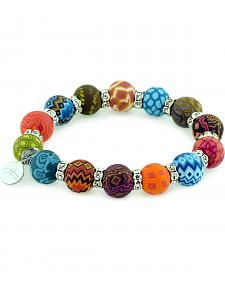 Jilzarah Santa Fe Beaded Crystal Bracelet