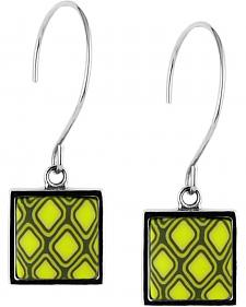Jilzarah Santa Fe Square Hoop Earrings