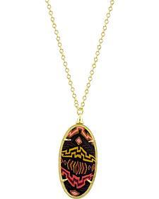 Jilzarah Santa Fe Gold Frame Pendant Necklace