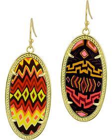 Jilzarah Sunset Gold Frame Earrings
