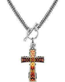 Jilzarah Sunset Two-Length Cross Necklace