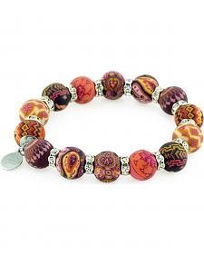 Jilzarah Sunset Beaded Crystal Bracelet