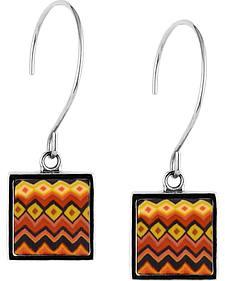 Jilzarah Sunset Square Hoop Earrings