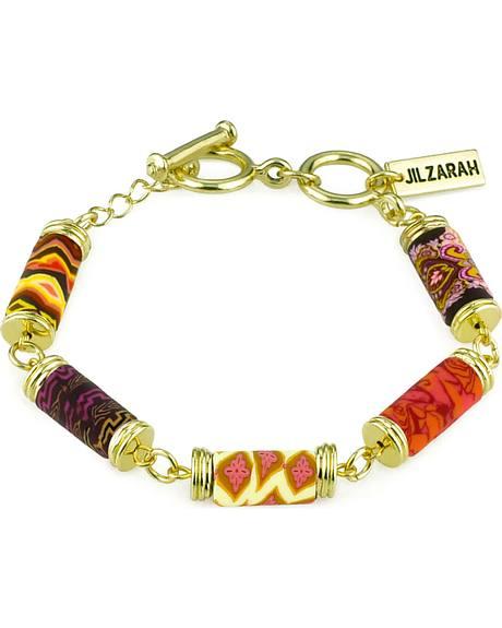 Jilzarah Sunset Tube Bead Gold Bracelet