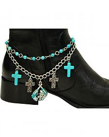Isac West Women's Western Cross and Pistol Boot Chain