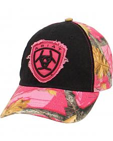 Ariat Ladies Pink Camo Logo Cap