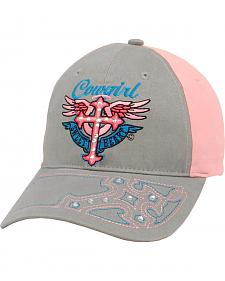 Blazin Roxx Cowgirl Cross & Wings Cap