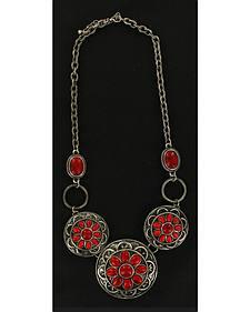 Blazin Roxx Red Drop Flower Necklace