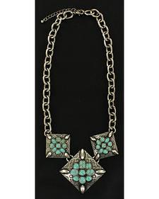 Blazin Roxx Triple Flower Necklace