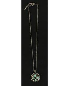 Blazin Roxx Faux Turquoise Cross Pendant Necklace