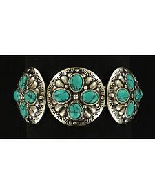 Blazin Roxx Faux Turquoise Concho Bracelet