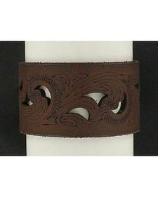 Blazin Roxx Cutout Leather Cuff Bracelet