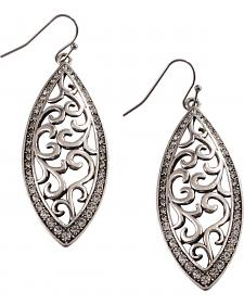 Rock 47 by Montana Silversmiths Knotted Lace Marquis Earrings