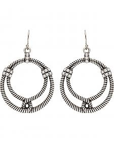 Wrangler Rock 47 Outlaw Rider Bowline Loop Earrings
