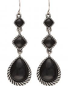 Wrangler Rock 47 Campfire Coals Night Pebble Triple Drop Earrings