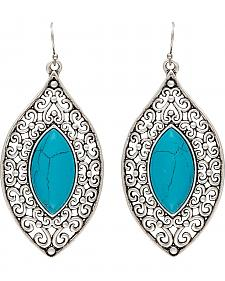 Wrangler Rock 47 Knotted Lace Blue Marquis Earrings