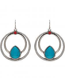 Wrangler Rock 47 Campfire Coals Red & Blue Spark Double Loop Earrings