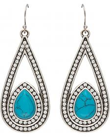 Wrangler Rock 47 Campfire Coals Blue Stone & Stars Drop Earrings