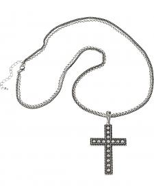 Wrangler Rock 47 Pins & Needles Rhinestone Cross Necklace