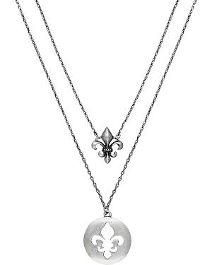 Wrangler Rock 47 Fleur de lis Shadow Double String Necklace