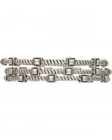Wrangler Rock 47 Rocks & Roll Stepping Stones Triple Bangle Bracelets
