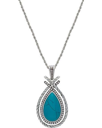 Montana Silversmiths Drawstring Treasure Pear-Shaped Turquoise Necklace Western & Country NC2131TQ