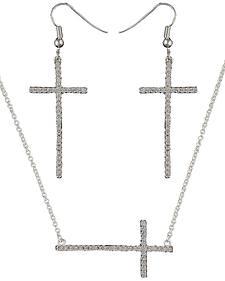 Montana Silversmiths The Straight Path Bright Cross Jewelry Set