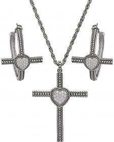 Montana Silversmiths Faith's Heart Cross Jewelry Set