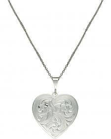 Montana Silversmiths Classie Heart Silver-Tone Concho Necklace