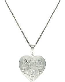 Montana Silversmiths Classie Heart Silver-Tone Concho Necklace