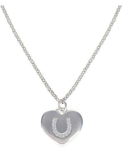 Montana Silversmiths Cowgirl Heart with Horseshoe Charm Necklace Western & Country NC2010