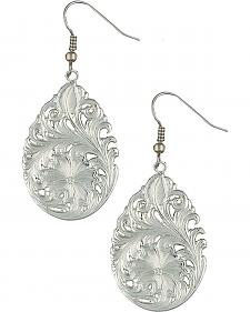 Montana Silversmiths Downy Flower Teardrop Earrings