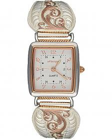Montana Silversmith Women's Rose Gold Filigree Expansion Band Watch