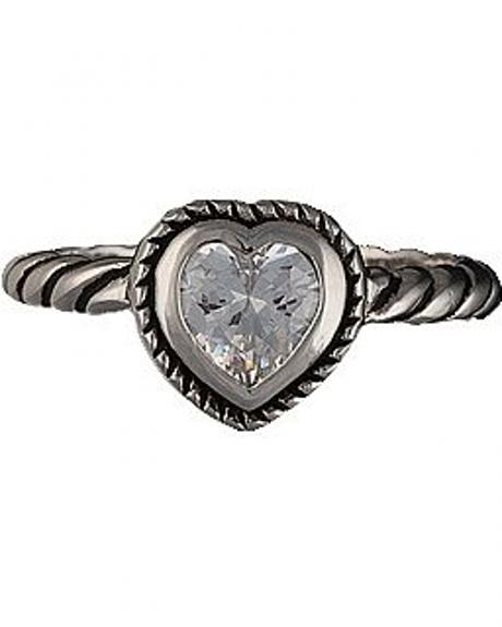 Montana Silversmiths Heart on a String Solitaire Ring - Size 7