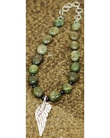 Isac West Angel Wing Gemstone Necklace