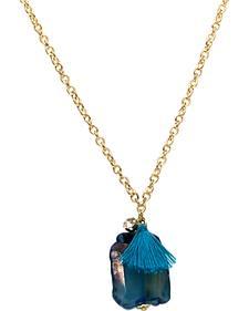 Ethel & Myrtle Teal Stone Necklace
