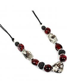 Ethel & Myrtle Burgundy Beaded Necklace