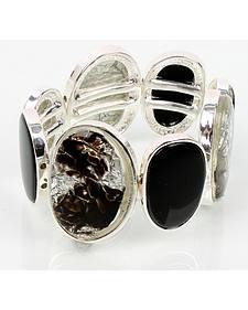 Ethel & Myrtle Foil Black Stretch Bracelet