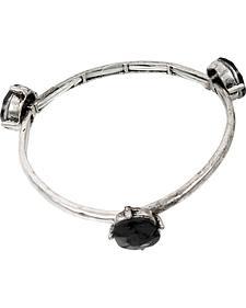 Ethel & Myrtle Black Stone Stretch Bracelet