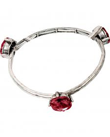 Ethel & Myrtle Red Stone Stretch Bracelet
