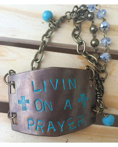 2 Queen B's Livin' On A Prayer Large Bracelet