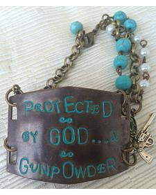 2 Queen B's Protected By God & Gunpowder Large Bracelet